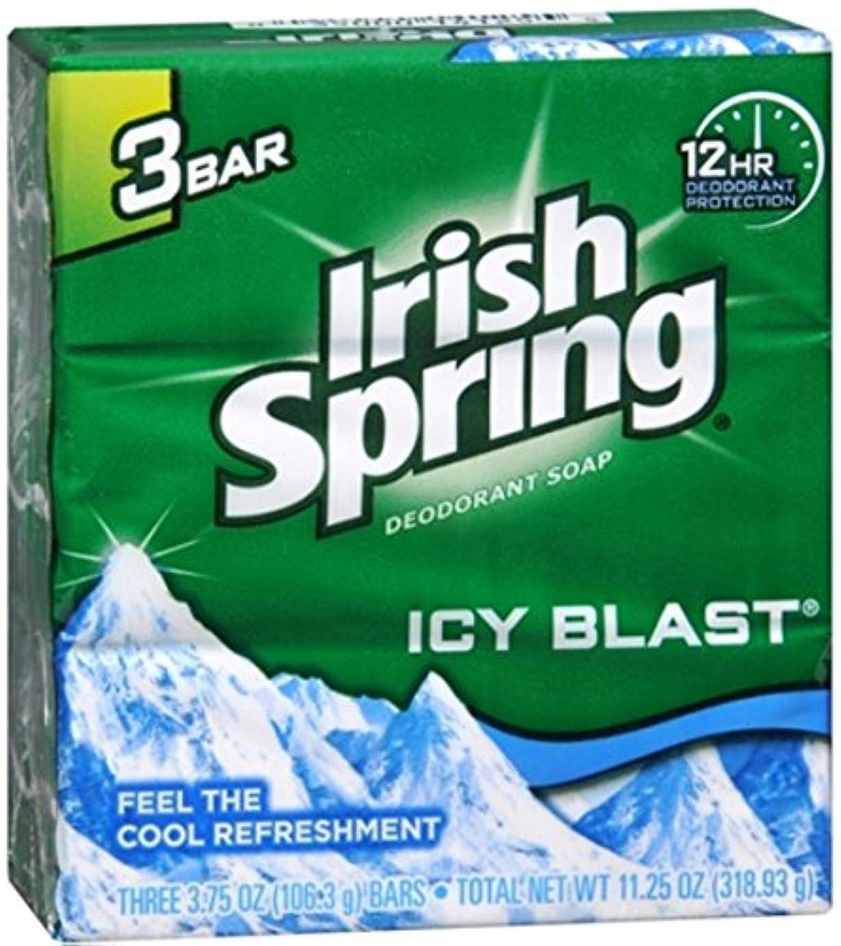 蛇行放出飛び込むIrish Spring デオドラント石鹸、アイシーブラスト、3.75オズバー、3 Eaは(2パック) 2パック