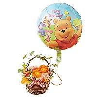 イイハナ・ドットコム アレンジメントフラワー ディズニー ぷわぷわバルーン ~Happy Birthday プーさん&フレンズ~
