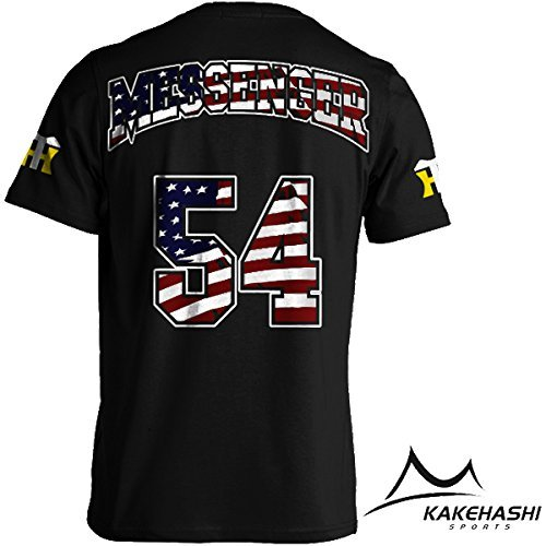 阪神タイガース公認 NEW選手出身国旗Tシャツ(Messenger) (XL, 黒)