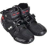 SPEED BIKERS バイク用ブーツ ライディングシューズ レーシングブーツ ショートブーツ 強化防衛性 オートバイ バイク用靴  プロテクト スポーツブーツ サイズ42(約26-26.5CM)ブラック