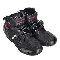 SPEED BIKERS バイク用ブーツ ライディングシューズ レーシングブーツ  ショートブーツ 強化防衛性 オートバイ バイク用靴 プロテクト スポーツブーツ サイズ41(約25.5-26CM)ブラック