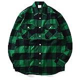 ROTHCO ロスコ HEAVYWEIGHT FLANNEL SHIRT ネルシャツ 4739 GREEN グリーン ブロックチェック 2トーン 厚手 GREEN M