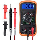 Proster Digital Multimeters Mini Digital Multimeter Pocket Tester Meter DMM DC AC Current Voltmeter Ohm with Backlight LCD