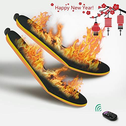 XVOOX 束縛ない 無線 リモコン 電熱 充電式 冬用 インソール 足温器 1900mAh/個 サイズの自由 便利 男女兼...