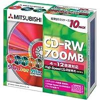 三菱化学 CD-RW700MB12X対応10枚カラーMIX [SW80EM10]