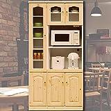LAVI'S 食器棚 幅90cm レンジ台 食器棚 カントリー 日本製 完成品 ホワイト 開梱設置