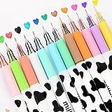 NYKKOLA Gel Ink Pen Extra-Fine Ballpoint Maker Pen for Office School Stationery Supply 12PCS Milky