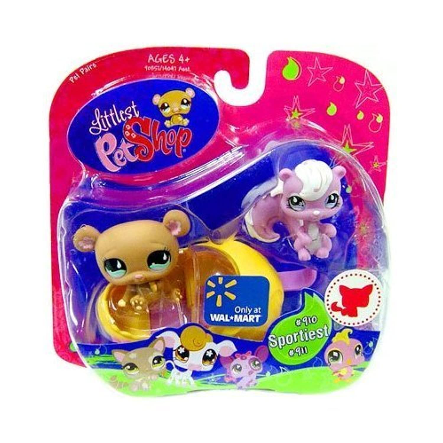 Littlest Pet Shop Exclusive Pet Pairs Figures Bear and Skunk by Hasbro [並行輸入品]