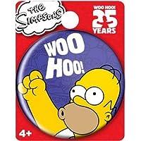 シンプソンズ 25周年記念バッジ (ホーマー) (Mo-10112 Simpsons