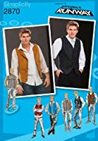 Simplicity Sewing Pattern 2870 Men Lined Vests BB (44-46-48-50-52) [並行輸入品]