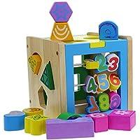 Goodgoods つみきパズル キッズ 3Dパズル パズルボックス 木製 立体パズル 知育玩具 013-lzgy-d-076(15*15*15cm 約1100g)