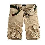 ナイキ ゴルフ ショートパンツ メンズ Dafanet ゴルフウエア メンズ レディース ハーフパンツ ショートパンツ ショーパン 半ズボン メンズ 短パン デニム カジュアル おしゃれ 綺麗 チェック アメカジ (33, ベージュ)