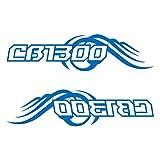 CB1300 カッティング ステッカー 左右セット ブルー 青