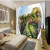 Lcymt 写真壁紙裏庭3D風景の背景リビングルームの壁紙壁画寝室の家の装飾バスルームのバルコニー-350X250Cm