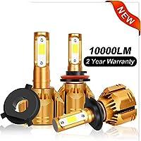 2個H1 H3 H4 H7 LED H11 HB3 9005 HB4 9006 H13 9004 9007 9012 LED車のヘッドライト電球6000K 10000LM自動ヘッドランプ12V 24V