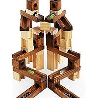【 Alnair 】玉転がし ビーズコースター 木製 45点セット 45PCS 60点セット 60PCS 積み木 知育玩具 おもちゃ 【 誕生日プレゼント 】 (60PCS)