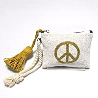 【Swaraj Bag】PEACE 2WAY タッセル付きビーズポーチ-GOLD
