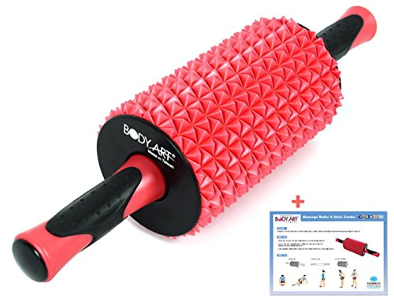 賢明なローラー羽Body Art マッサージ フォームローラー スティックコンボ 全身運動 マッサージ機構 身体のバランスの強化 リハビリ運動器具 海外直送品 (Massage Foam Roller Stick Combo Full...