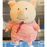 HuaQingPiJu-JP 40センチメートルかわいい豚の人形ぬいぐるみソフト豚人形ホームデコレーション子供ギフト(赤い布)