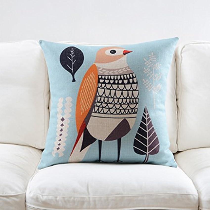 してはいけませんカーフ抽象化装飾 座布団 選択肢の北欧のファッションシンプルな枕コットンリネンソファクッションバラエティ。 (Size : 60 Cm)