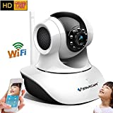 Vstarcam C7835WIP P2P HD 720P Wireless WIFI IP Camera Night Vision Two-way Voice Network Indoor CCTV Onvif Multi-stream Baby Monitor Mobile Phone Remote Monitoring (Maximum support 64G TF Card) [並行輸入品]