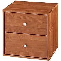 【完成品】 キューブボックス 木製 収納ボックス ストッカー 書類ケース おしゃれ 幅35cm 引き出し ブラウン