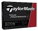 TAYLOR MADE(テーラーメイド) TOUR PREFERRED X ゴルフボール(1ダース12個入り) 2016年モデル ボールカラーホワイト  B1329601 ホワイト