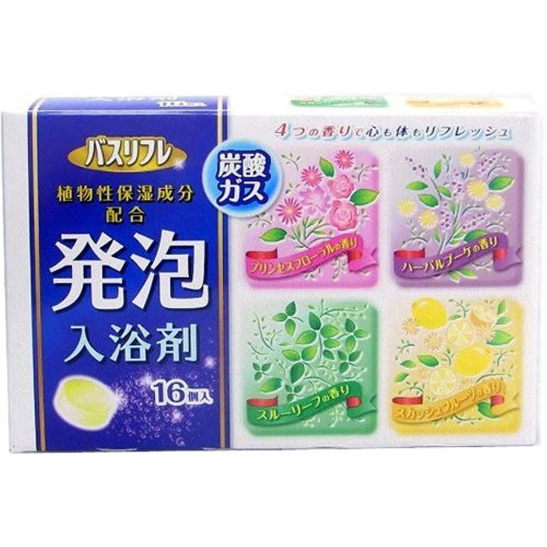 留め金ミンチ赤道バスリフレ 薬用発泡入浴剤 16錠 [医薬部外品] Japan