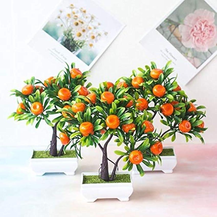 この刃型人工鉢植え人工植物盆栽マンダリンオレンジ果樹は家の結婚式の部屋ホテルパーティーの装飾のために鉢植え偽の鉢植え植物造花、装飾的な人工植物壁