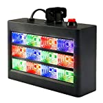 SOLMORE ストロボ ステージライト 舞台照明 12 LED RGB フラッシュステージライト ディスコ、バー、結婚式、パブ、クラブ、ステージ、DJ、ローラースケートリンク、KTV、パーティー、ホーム 音声制御 15W AC 90-240V