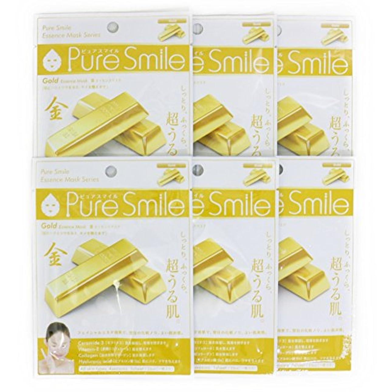 責任者科学的彫刻家Pure Smile ピュアスマイル エッセンスマスク 金 6枚セット