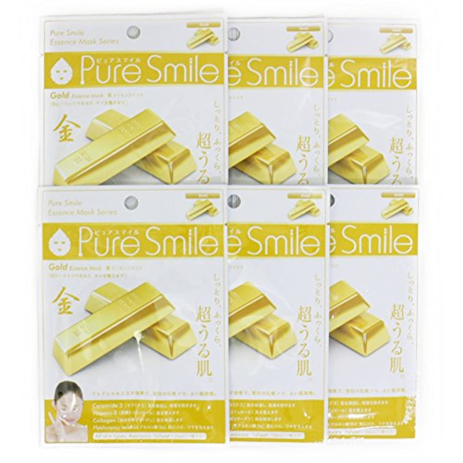 孤独領事館分割Pure Smile ピュアスマイル エッセンスマスク 金 6枚セット