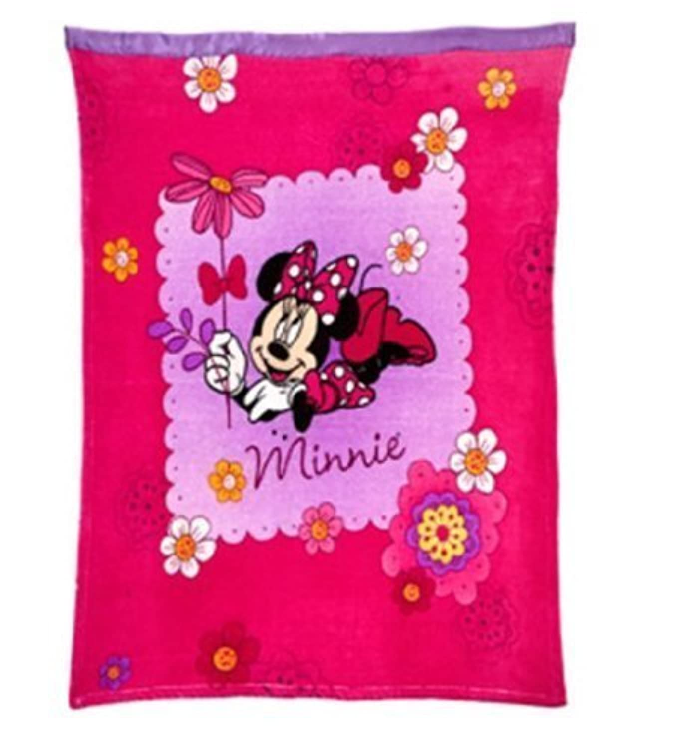 Disney Minnie Mouse Toddler/Baby Blanket by Crown Crafts [並行輸入品]