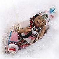 dirance 22インチLifelike Reborn人形SleepingソフトシリコンパーツボディリアルなAmericanブラックガール人形ビニールreallike新生児赤ちゃん人形Outfits ,子供ギフトfor Ages 3 +、under 100ドル F DR