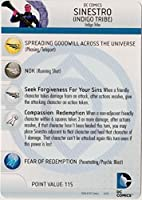 Heroclix DC War of Light #056 Sinestro (Indigo Tribe) Figure Complete with Character Card