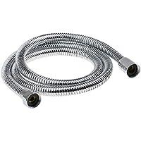 SONONIA 0.7-1.2m 柔軟 ステンレス バスルーム シャワーホース 交換チューブ パイプ 全5種選べ - 銀2 1.2m