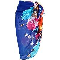 Ayliss Womens Swimwear Floral Chiffon Cover up Beach Sarong Pareo Bikini Wrap