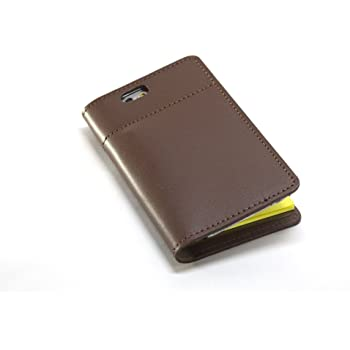 1冊の「ふせんノート」で人生は、はかどる坂下仁特製ふせん台紙付き本革レザーiPhone6/6sカバー・本革ブラウン