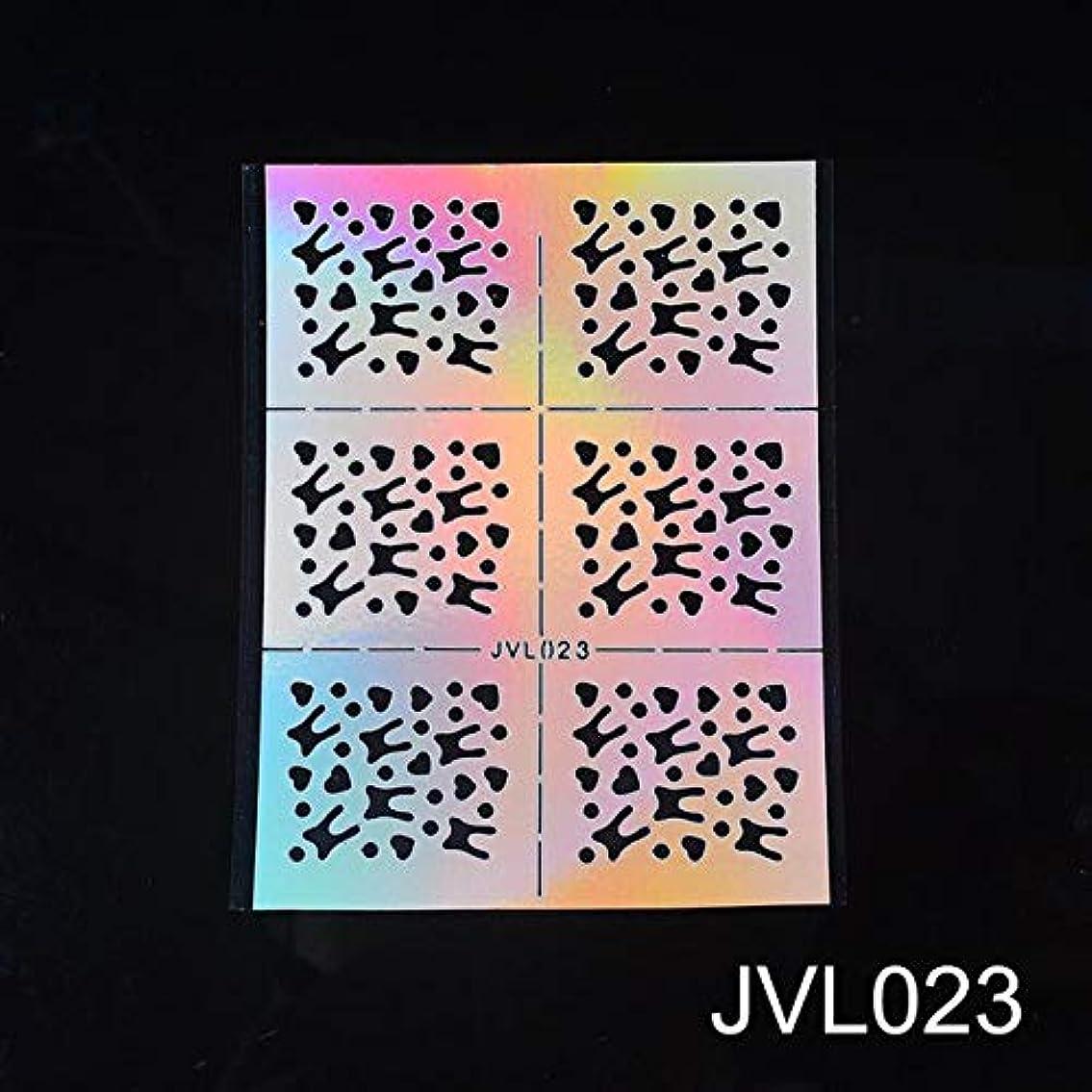 意見分析する図書館SUKTI&XIAO ネイルステッカー Diyネイルビニールネイルアート不規則なグリッドパターンスタンピングのヒントマニキュアテンプレート中空ステッカーガイド