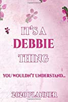 DEBBIE: Personalised Name Planner 2020 Gift For Women & Girls 100 Pages (Pink Floral Design) 2020 Weekly Planner Monthly Planner