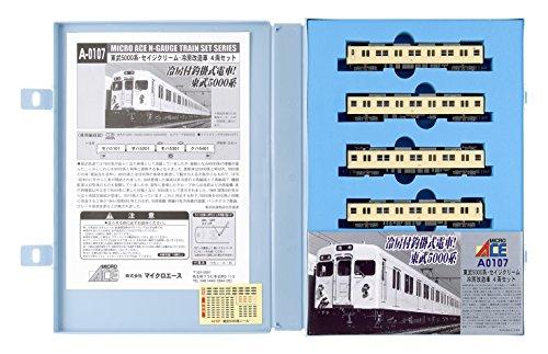 Nゲージ A0107 東武5000系・セイジクリーム・冷房改造車 4両セット