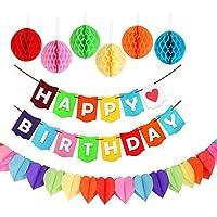 誕生日 飾り付け 装飾セット パーティー デコレーション 飾り物ガーランド HAPPY BIRTHDAY ガーランド