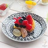 美しいボレスワヴィエツの街 シノワズリブラック パンプレート シェアプレート 15.5cm 洋食器