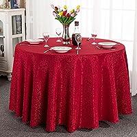 JIANFEI-zhuobu ラウンドテーブルクロス テーブル掛 大きい ジャカード 柔らかい 12色、5色 (色 : I, サイズ さいず : 3.6m splicing)