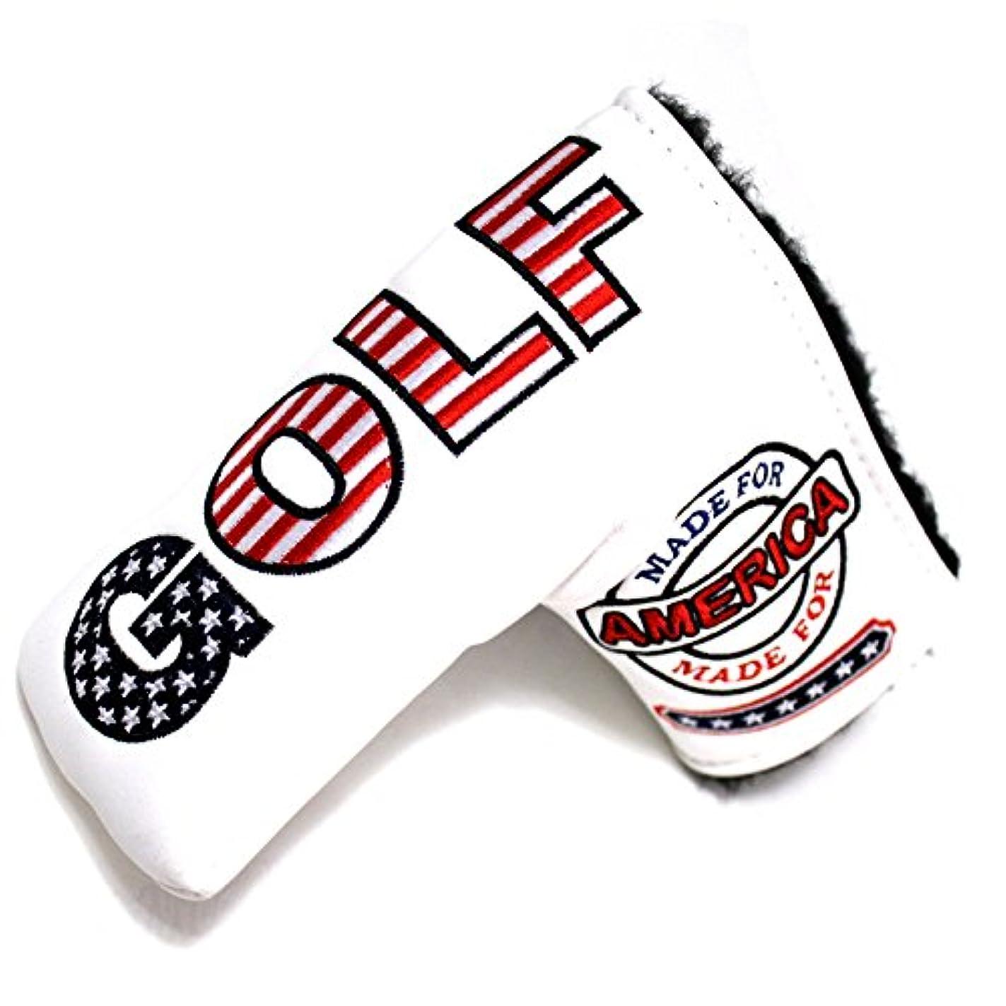 手つかずの事前自分の力ですべてをするCNC GOLF USA GOLF パターカバー ヘッドカバー スコッティキャメロン/テーラーメイド/オデッセイ用 ブレードタイプのパター用