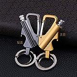 Galopar 灯油ライター オイルライター メタルライター 実用的な栓抜き キーホルダー収納ボックス付き 多機能 プレゼント(オイルなし) (シルバー) 画像
