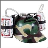 古いバーガーSoda Colaビール帽子キャップDrinkingヘルメットwithストローforパーティーゲーム(グリーン迷彩)