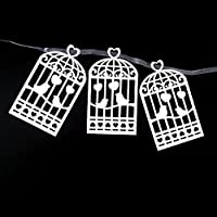 JANOU Love Bird Cage Paper Garland Hanging Banner for Wedding Birthday Party Decoration [並行輸入品]