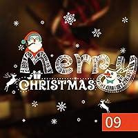 朵朵 ウォールステッカー クリスマス LL特大サイズ サンタ クロース トナカイ ツリー そり (9#)