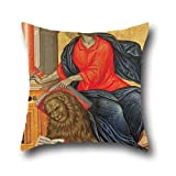 Oil Painting Tzanes Emmanuel - St Mark The Evangelist Pillow Covers 16 X 16 Inches / 40 By 40 Cm For Bar Seat,boys,divan,couples,deck Chair,wedding With Twice Sides (¥ 2,321)